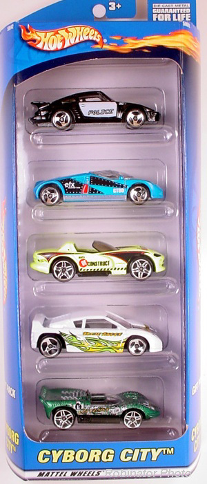 5 Packs 2001 Hot Wheels