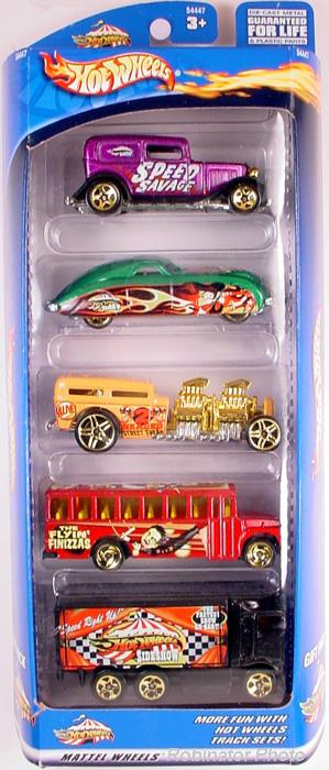 5 Packs 2002 Hot Wheels