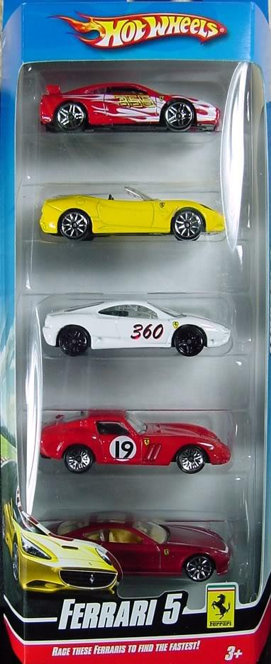5 Pack 2010 Hot Wheels