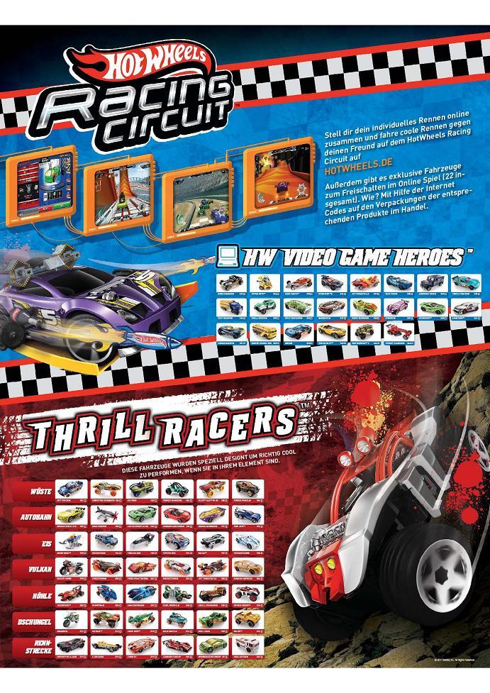 poster 2011 hot wheels