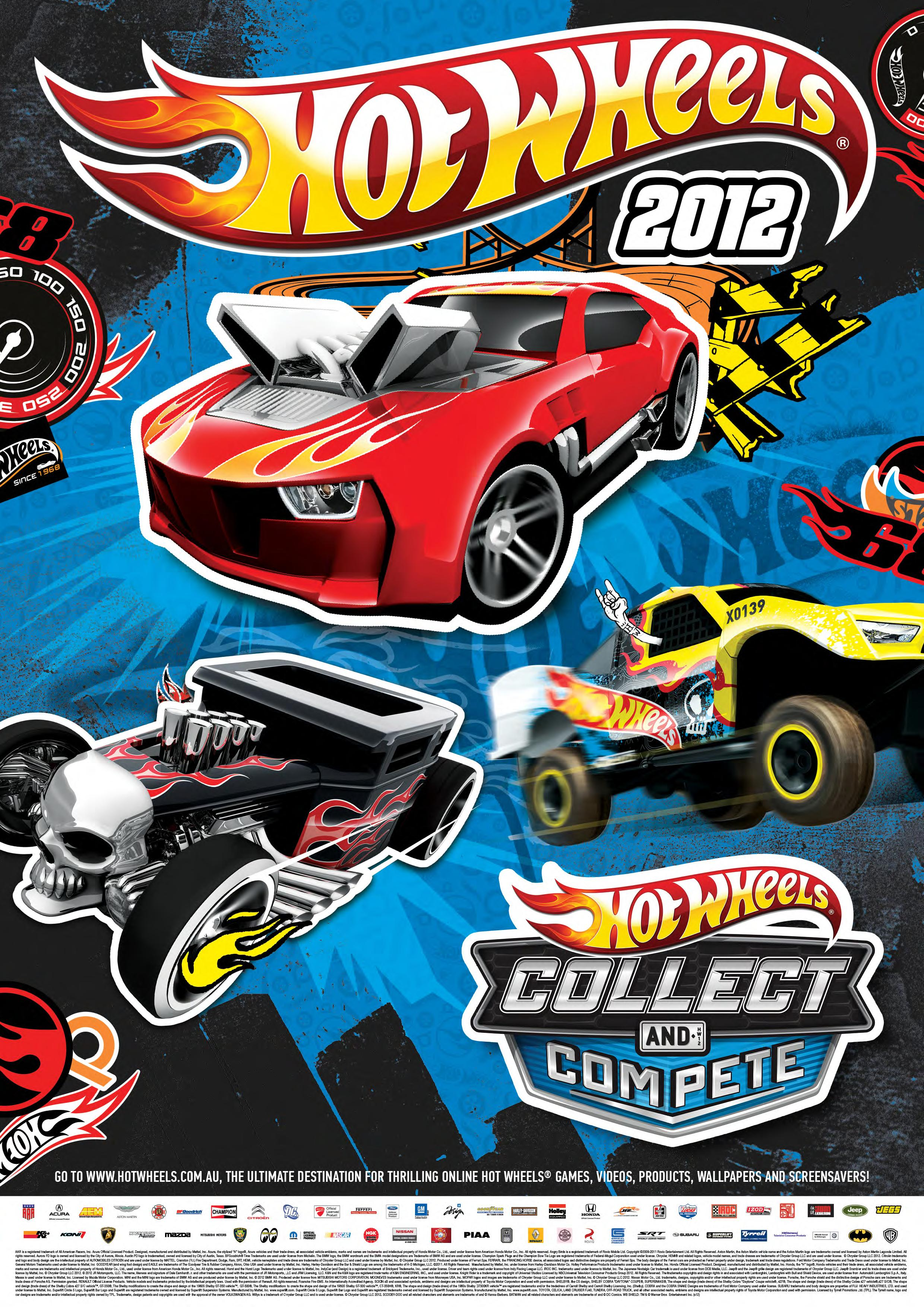 poster 2012 hot wheels. Black Bedroom Furniture Sets. Home Design Ideas