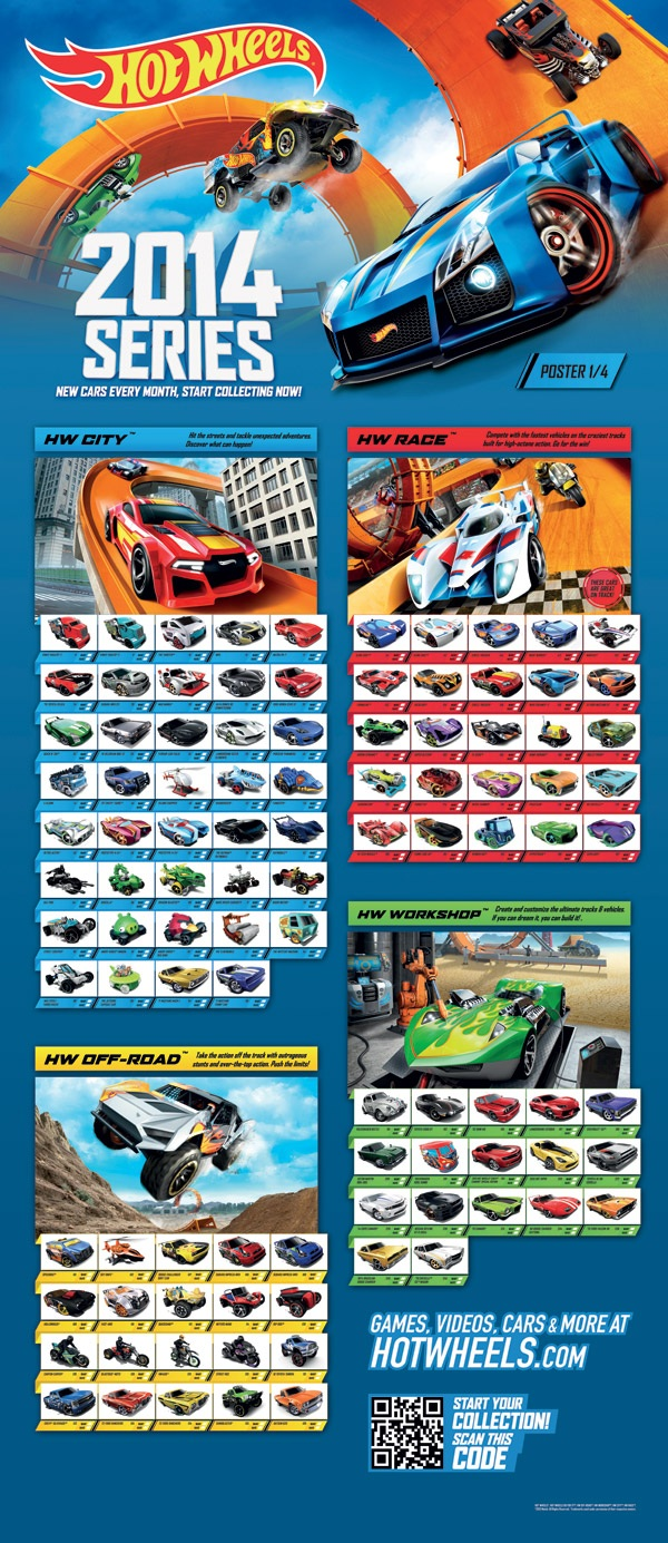 Poster 2014 Hot Wheels