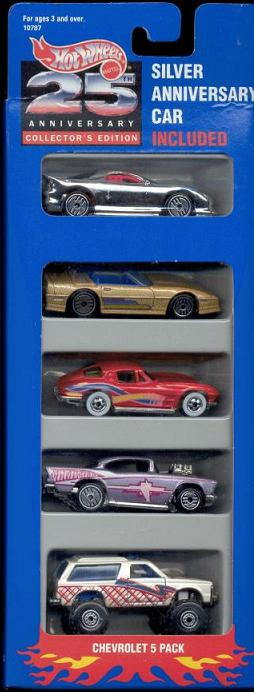 5 Packs 1993 Hot Wheels