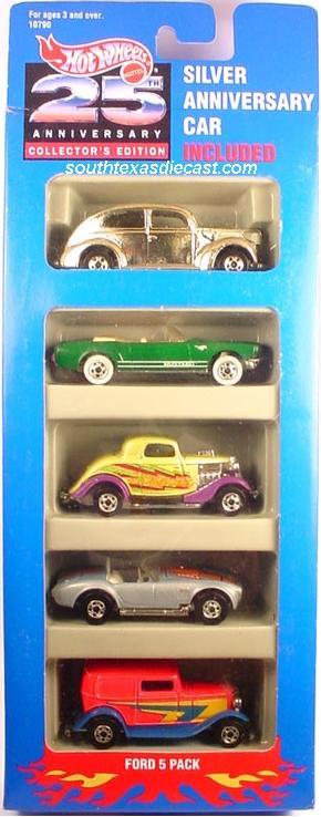 5 Packs 1993 Hot Wheels