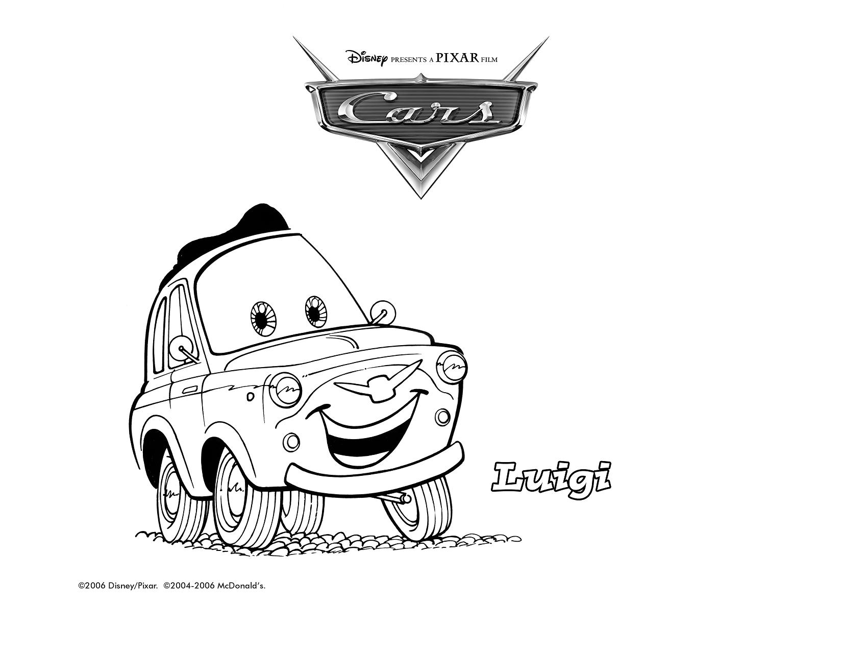 Cars guido coloring pages - Figuras Para Colorir