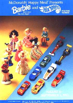 Mcdonalds Happy Meal Totally Toy Holiday Hot Wheels Key Force Truck 1993 Set by McDonalds McDonald/'s