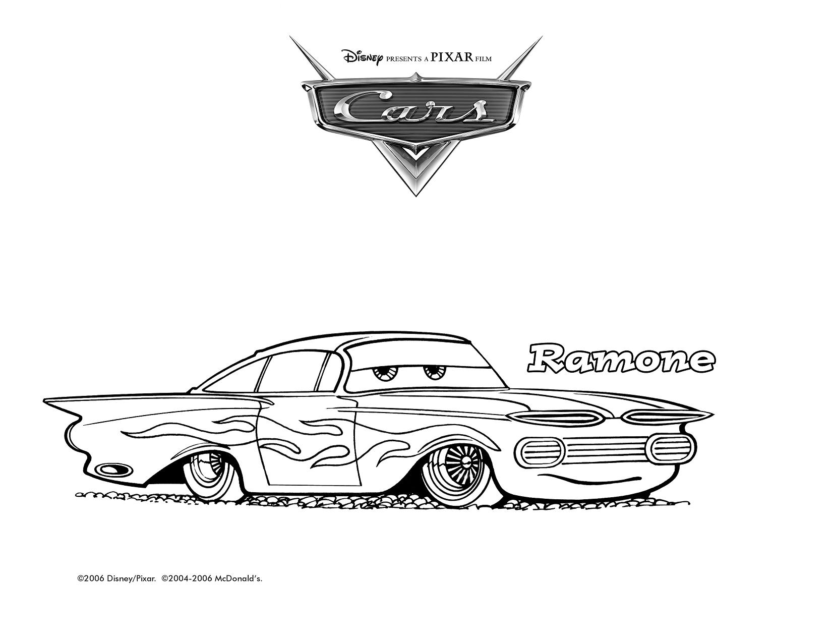 ramone cars coloring pages - photo#19